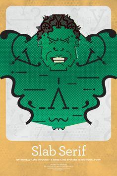MFA Superhero Typographic Classifications