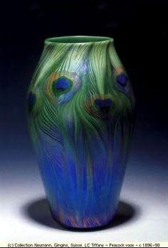 Louis Comfort Tiffany - Peacock vase