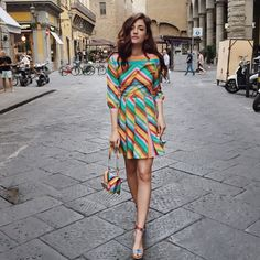 If @eleonoracarisi was a candy she would be delicious! #1973collection #candygirl #rainbow #chevronstripes