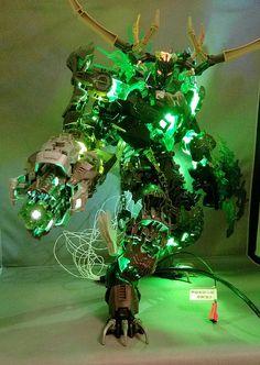 Umarak the Demon Lego Robot, Lego Moc, Legos, Lego Memes, Lego Dragon, Lego Universe, Arte Ninja, Amazing Lego Creations, Lego Craft