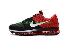 Nike Air Max 2017 Red Black White Tick Mens