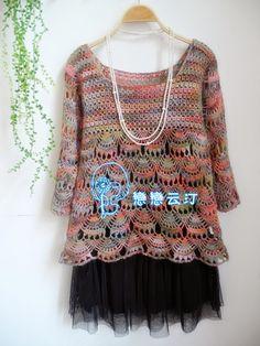 Crochet Knitting Handicraft: Tunic crochet