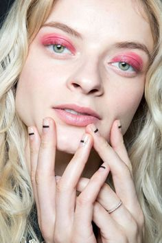 """Gina Edwards for Maxus Nails created """"bold lines and negative spaces"""" for her nail design at Veda."""