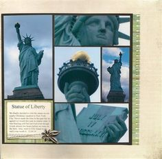 #papercraft #scrapbook #layout    Statue of Liberty - Club CK - The Online Community and Scrapbook Club from Creating Keepsakes by m. eisele 2/3/11