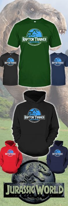 I LOVE this awesome Raptor Trainer shirt! Celebrating Jurassic Park and Jurassic World.. and of COURSE Chris Pratt! Click the image to see it!