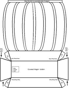 Covered Wagon Template - scale it to fit a normal sized paper and print on brown