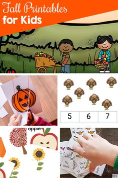 Fall Printables for Kids - Simple Fun for Kids Fun Activities For Preschoolers, Autumn Activities For Kids, Number Activities, Printable Activities For Kids, Alphabet Activities, Kindergarten Activities, Infant Activities, Preschool Activities, Play Based Learning