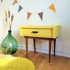 Gaston, le chevet table de nuit vintage rénové par chouette Fabrique