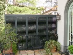 Shutters - they let air through for circulation and add privacy.
