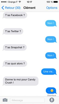 reseaux sociaux perles des sms Funny Sms, Funny Text Messages, Funny Texts, Funny Jokes, Hilarious, Some Jokes, How To Speak French, Learn French, Reality Of Life