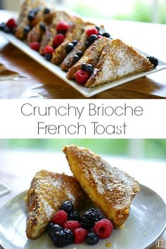 Crunchy Brioche French Toast Recipe A terrific brunch recipe for of July weekend! Easy Brunch Recipes, Fun Baking Recipes, Easter Recipes, Breakfast Recipes, Brunch Ideas, Savory Breakfast, Breakfast Bake, Spring Recipes, Tostadas