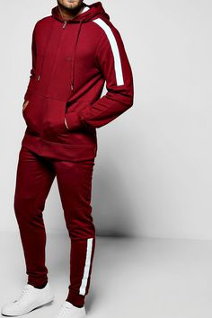 Skinny Fit Biker Panel MAN Tracksuit | boohoo Sport Outfits, Casual Outfits, Men Casual, Mma Shorts, Custom Made Suits, Slim Fit Joggers, Track Suit Men, Sport Pants, Skinny Fit