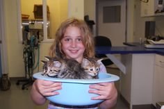 Steele's daughter with a bowl full of kittens! Pet Trust, Your Pet, Kittens, Daughter, Pets, Animals And Pets, Kitty Cats, Kitten, My Daughter