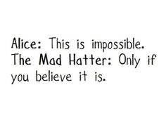 Alice in Wonderland quote. Did you know I. The book she had brown hair?