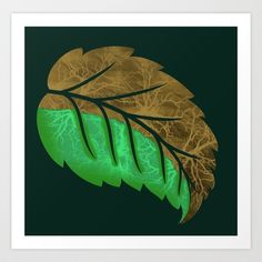 Drying Leaf Art Print by Adil Siddiqui (addu) - $15.00