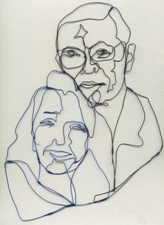 Wire portrait Mary and Stefano © Karen Jobe Templeton