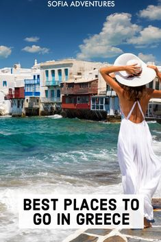 Planning a trip to Greece? There are so many great places to visit in Greece you'll have a hard time Greece Vacation Spots, Italy Vacation, Vacation Destinations, Greece Destinations, Places To Travel, Places To Go, Mykonos, Santorini, Greece Outfit