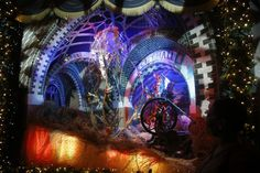 A view of Saks Fifth Avenue's holiday windows.