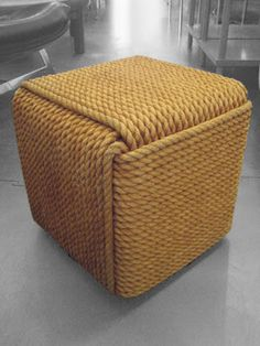 1970s french cube ottoman/table. featured on subida del sol.