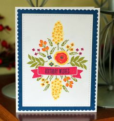 Femme Frame dies, Mama Elephant , Wplus9's Bountiful Banners stamp set, Wplus9's Fresh Cut Florals, few leave images from Wplus9's Mother's Day Bouquet,  to the full