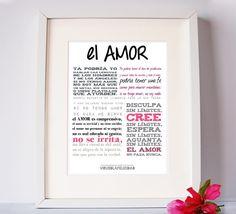 Lámina sobre el AMOR   Consíguela en www.virusdlafelicidad.com  #virusdlafelicidad #lamina #amor #deco #hogar #sanvalentin #santvalenti #diadelosenamorados #diadelsenamorats