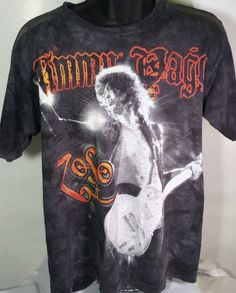 Jimmy Page Led Zeppelin Mens Size Medium T Shirt #LiquidBlue #GraphicTee