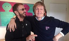 PAUL ON THE RUN: Paul McCartney and Ringo Starr come together for m...
