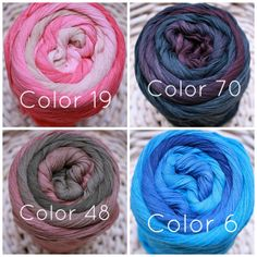 Lang Sol Degrade Soldegrade cotton tape yarn by loopymango on Etsy, $20.00