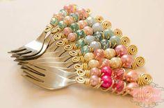 decoracao mesa doces, colher carol arnone , colher decorada cristais