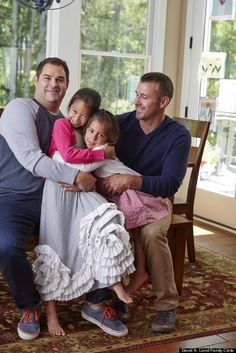 Kudos to Family Circle for the inclusion of such a wonderful family! The first time a gay couple has been featured in their magazine! Despite backlash, this is a wonderful step forward! Parenting Styles, Kids And Parenting, Monster Under The Bed, Wealthy Lifestyle, Family Circle, Lgbt Rights, Lgbt Love, Make A Family, Two Daughters