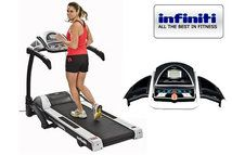Infiniti MX850 Professional Treadmill allowing for a smooth and comfortable run, along with a solid steel frame The Infiniti MX850 Professional Treadmill is suitable for use in Gyms. This is a very stable and sturdy Treadmill and comes with a warranty as back-up.