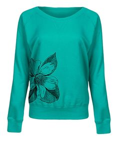 Take a look at this Jade Floral Slouchy Pullover today!