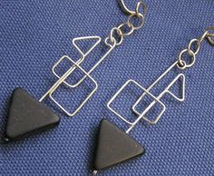 Love the cubist idea, most wire jewellery is more rounded