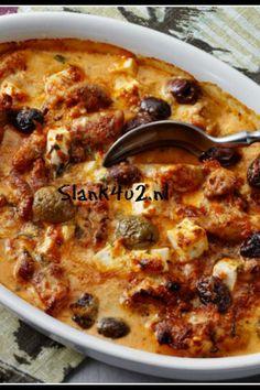 Pesto kip ovenschotel met feta en olijven – Slank4U2