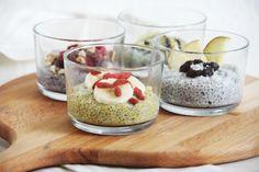Turmeric, Coconut, Matcha & Acai meet Chia Pudding
