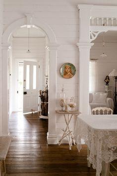 White and cream interiors