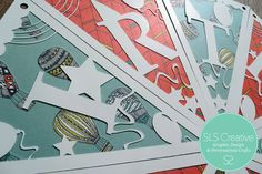 Paper Cut Bunting, Full Alphabet DIY Template - A-Z  Celebration / Birthday. Digital Download.