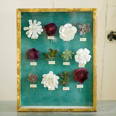 Preserve your wedding flowers or flowers from another special event in a Shadow Box.