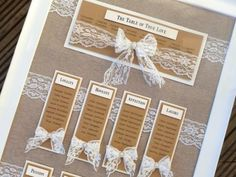 rustic hessian and lace wedding table plan with a little bit of bling