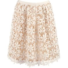 Hoss Intropia Lace Crochet Skirt, Cream ($70) ❤ liked on Polyvore featuring skirts, bottoms, saias, pink lace skirt, crochet skirt, textured skirt, lacy skirt and evening skirts