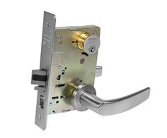 Sargent 8255 LNB 26D Office/Entry Mortise Lock LN Rose B Lever