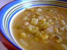 A cozinha do Titó: Sopa de milho e alho-francês                      ...