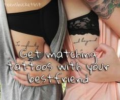 @Rachel Krut @kayleigh lanphar we should do that! you know, when we're like 20, though. #tattoo #bff