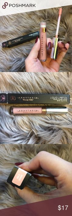 """Anastasia Beverly Hills """"Milkshake"""" liquid lip NIB Anastasia Beverly Hills liquid lipstick in the color """"Milkshake"""". Only opened for the photo. Box is damaged from being shoved around in my drawers for awhile. 💗 Anastasia Beverly Hills Makeup Lipstick"""
