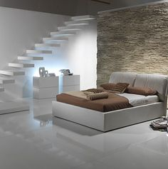 Double #bed with removable cover MARGOT by Bodema | #design Adriano Castiglioni #bedroom