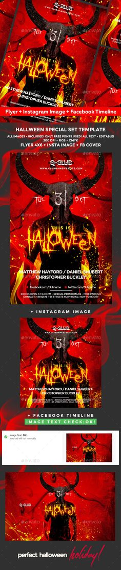 Halloween — Photoshop PSD #horror night #october • Available here → https://graphicriver.net/item/halloween-flyer/20556337?ref=pxcr
