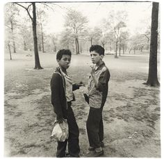 Diane Arbus, Two Boys Smoking in Central Park, N.Y.C, 1962  I got to see this photo in person at MOMA. And Arbus truly does capture the mood in this, it feels very much like lost innocence in ways. You are looking at these kids and thinking hey you shouldn't be doing that,
