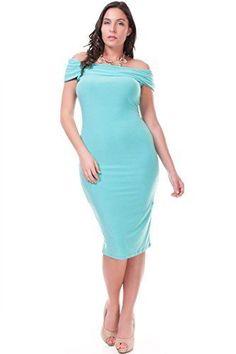 Nyteez Women's Plus Size Off Shoulder Spring Dress