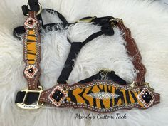Tiger stingray halter Mandy's Custom Tack