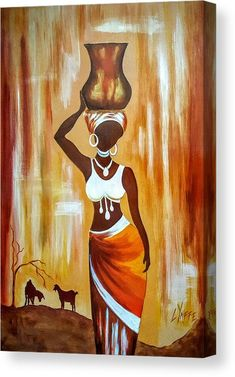 African American Artwork, African Artwork, African Art Paintings, Canvas Art Paintings, Canvas Artwork, Canvas Prints, African Drawings, Afrique Art, Black Art Painting